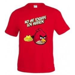 Camiseta Angry Birds - No me toques los huevos
