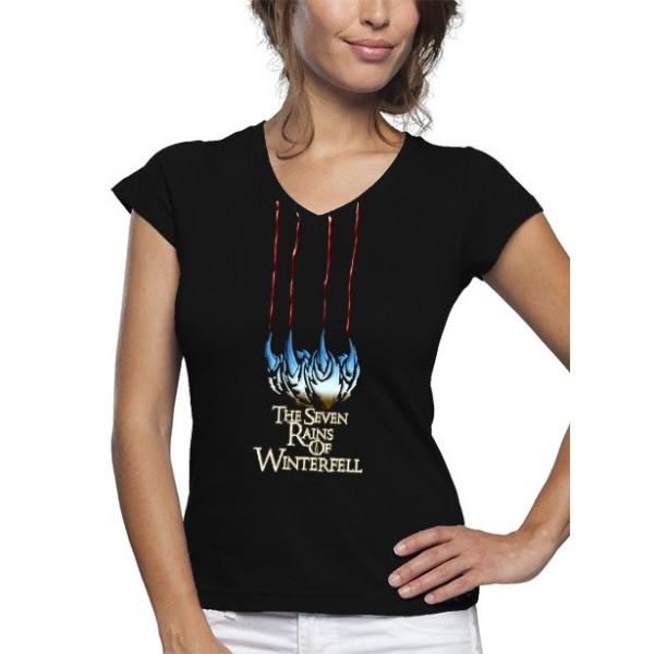 Camiseta mujer, Juego de Tronos Los Siete Reinos de Winterfell