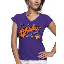 Camiseta día de la madre diseño madre no hay más que una manga corta