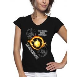 """Camiseta Divergente de mujer diseño """"Opción"""""""