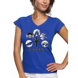 Camiseta Divergente de mujer facciones