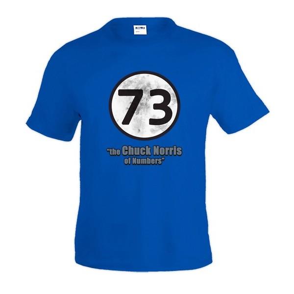 Camiseta Sheldon 73 - the Chuck Norris of Numbers