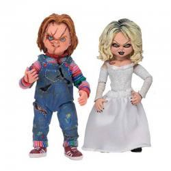 Pack 2 Figuras Chucky y Tiffany 10 Cm