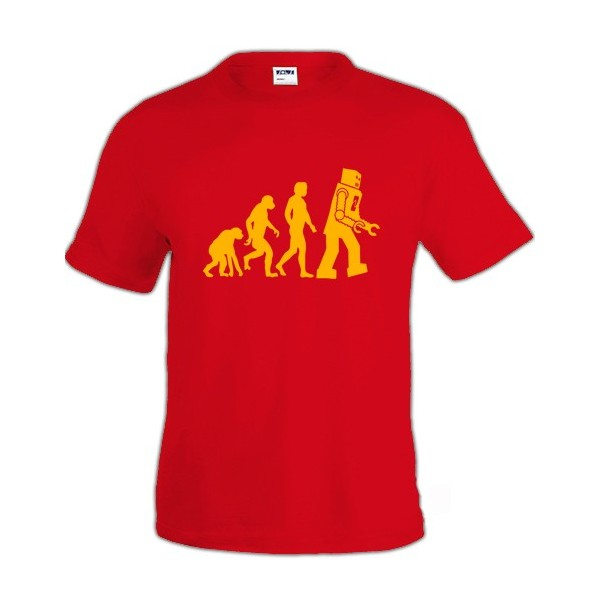 Camiseta de Sheldon Cooper - Robot Evolution -