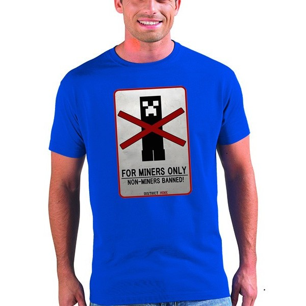 Camiseta minecraft Creeper for miners