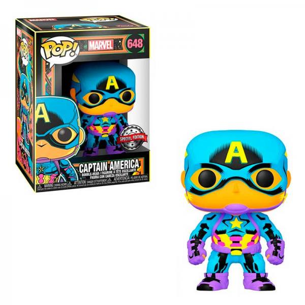 FUNKO POP CAPITAN AMERICA BLACK LIGHT