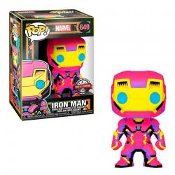 FUNKO POP IRON MAN BLACK LIGHT EXCLUSIVO